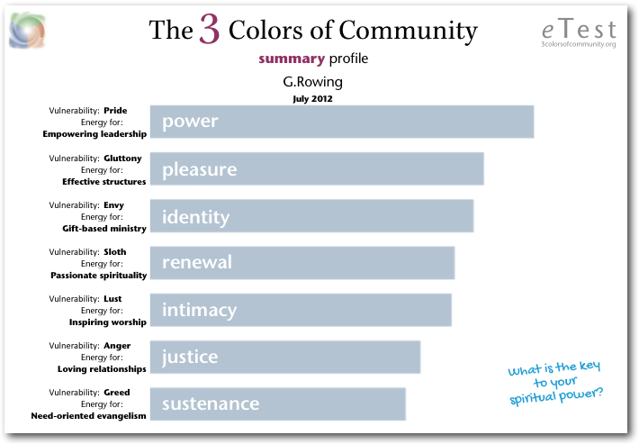 The 3 Colors of Community Summary Profile front page